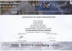 Конференция по эндоскопии в гинекологии «3rd International Winners Meeting»