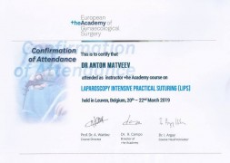 Certificate Laparoscopy Intensive Practical Suturing (LIPS)